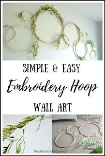 Simple & Easy Embroidery Hoop Wall Art