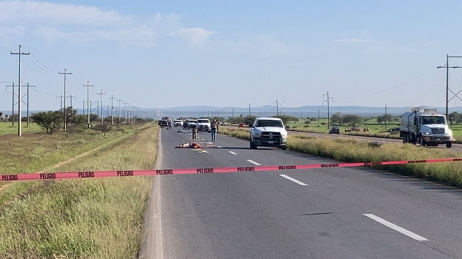 Sicarios abandonan 5 cuerpos a la altura de la comunidad Rancho Grande, algunos fueron atropellados