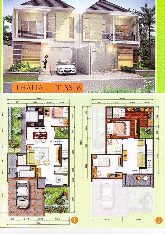 Denah Rumah Minimalis 1 Lantai Ukuran 8x10 Desain Rumah Minimalis
