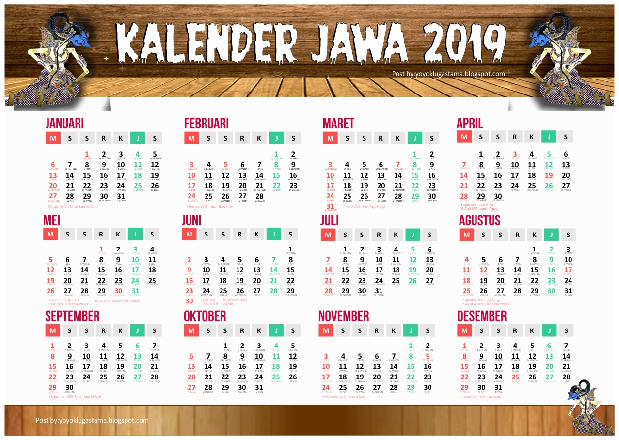 Download Kalender 2019 Master Corel dan PDF