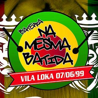 "Logotipo do bloco carnavalesco ""Bateria na mesma batida"""