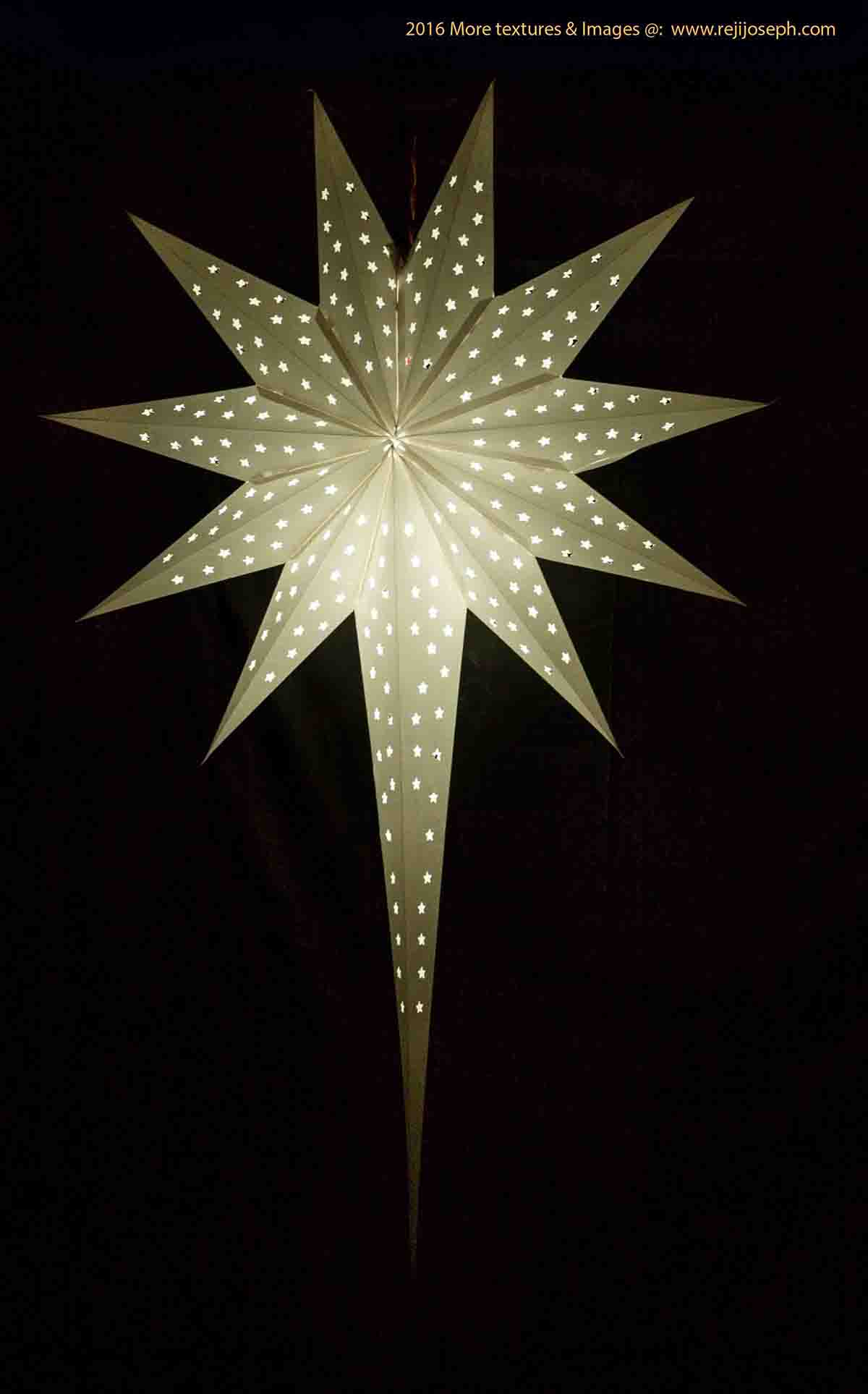 Christmas star Illumination light decoration 00005