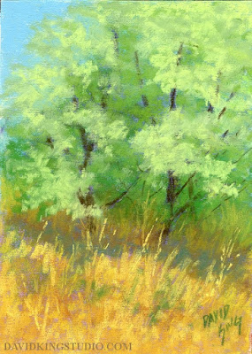 art painting pastel landscape nature tree plein air