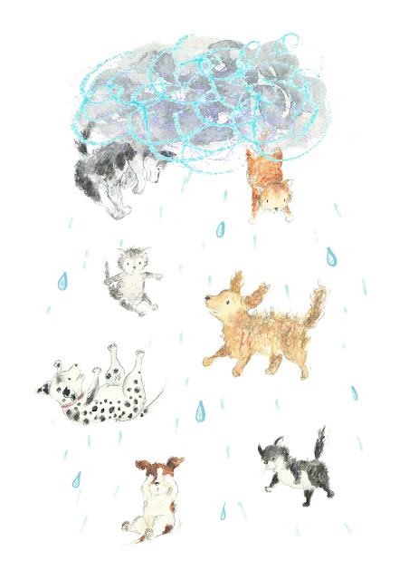 Diy Raining Men Costume: Kathleen Meaney Illustration: It's Raining Cats And Dogs