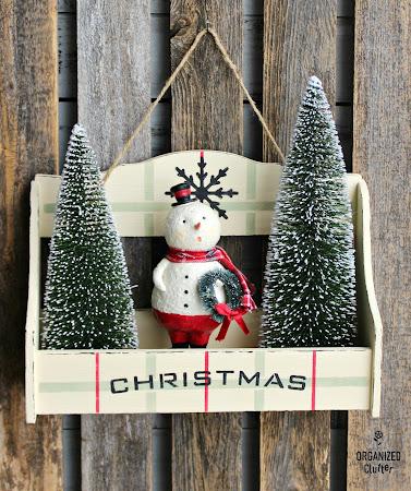 Thrift Shop Spice Rack Christmas Repurpose