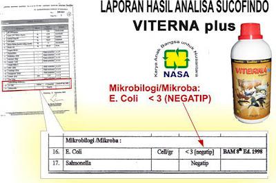 """""""hasil laporan uji laboratorium sucofindo viterna vitamin ternak natural nusantara distributor nasa"""""""