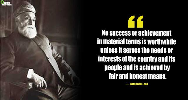 Jamsetji Tata Quotes On Society