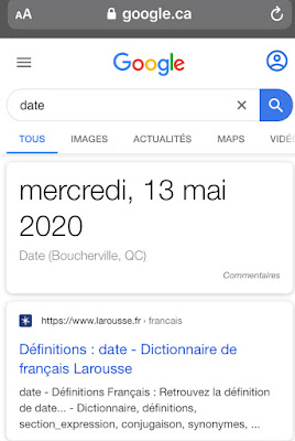 Google Recherche : reccourci date