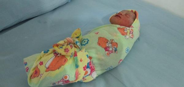 Bayi wanita yang dibuang di kebun sawit.