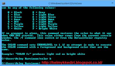 Mengganti Warna Background dan Text CMD