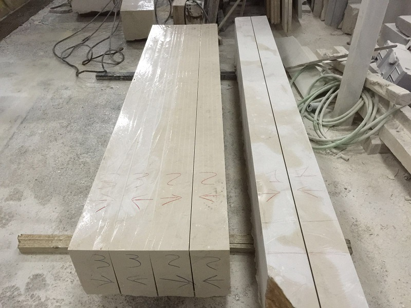 Artesan a del m rmol columnas en m rmol crema marfil para - Columna de marmol ...