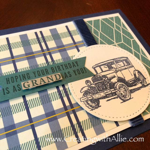 Check out the video tutorial with some AMAZING tips and tricks for making masculine cards using Stampin Up's truly tailored stamp set!  You will love how quick and easy this is to make!  www.creatingwithallie.com #stampinup #alejandragomez #creatingwithallie #videotutorial #cardmaking #papercrafts #handmadegreetingcards #fun #creativity #makeacard #sendacard #stampingisfun #sharewhatyoulove
