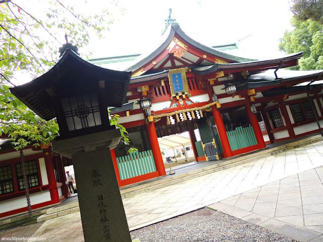 Puerta Shinmon en el Santuario Hie, Tokio