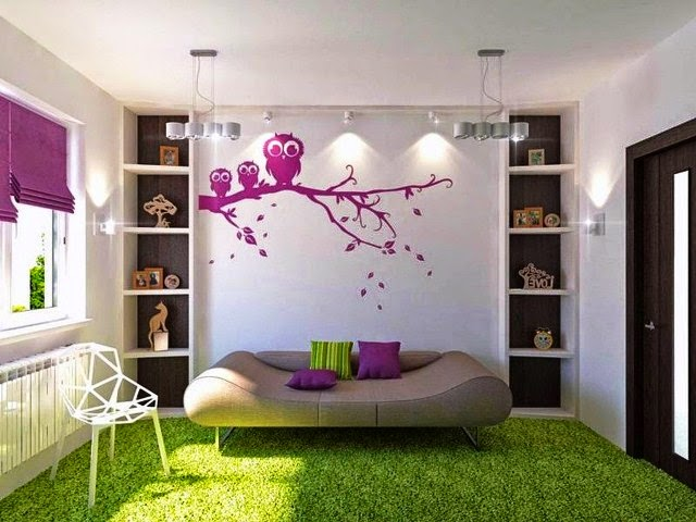 wall color ideas with green carpet