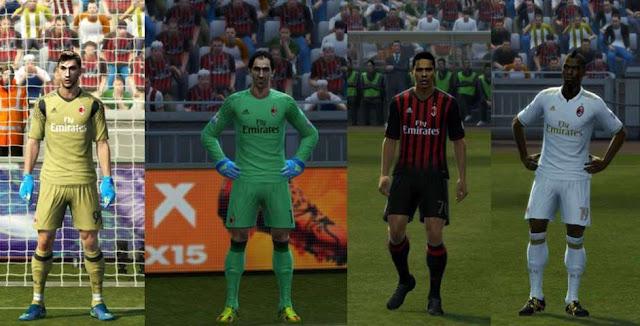 PES 2013 AC Milan Kit 2016-17