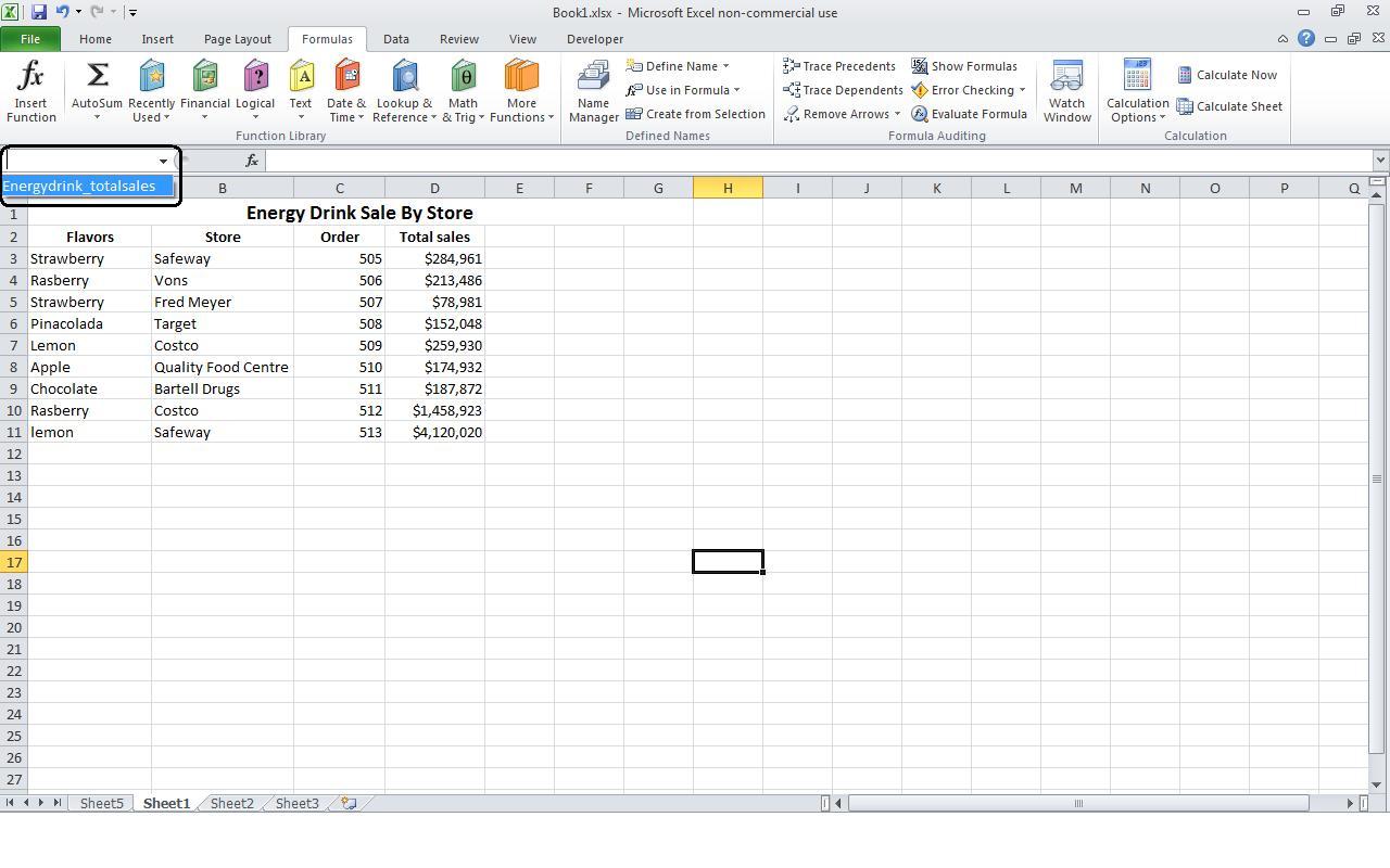 Power Of Excel Defining A Named Range