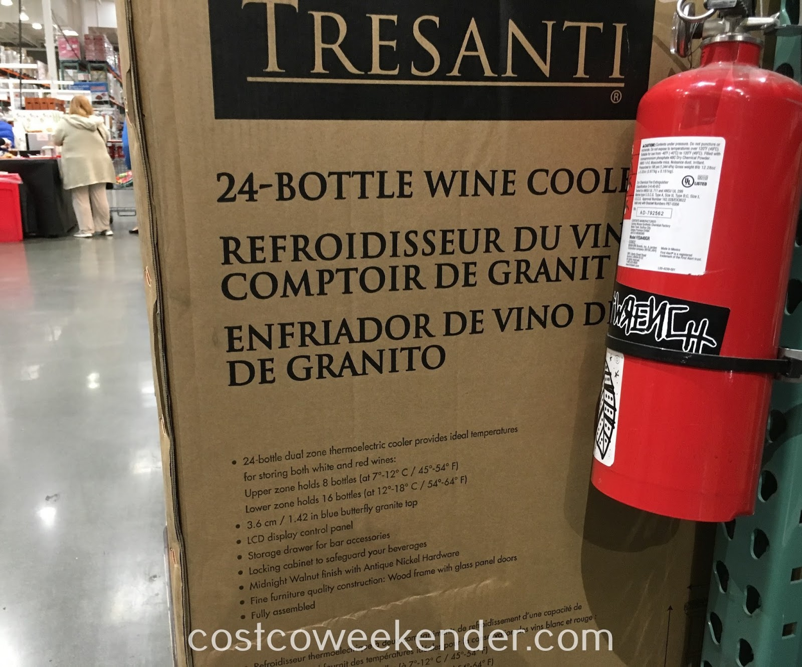 Costco 1075067 - Tresanti Wine Cabinet with 24 Bottle Cooler - the perfect accessory for your home bar