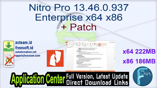 Nitro Pro 13.46.0.937 Enterprise x64 x86 + Patch_ ZcTeam.id