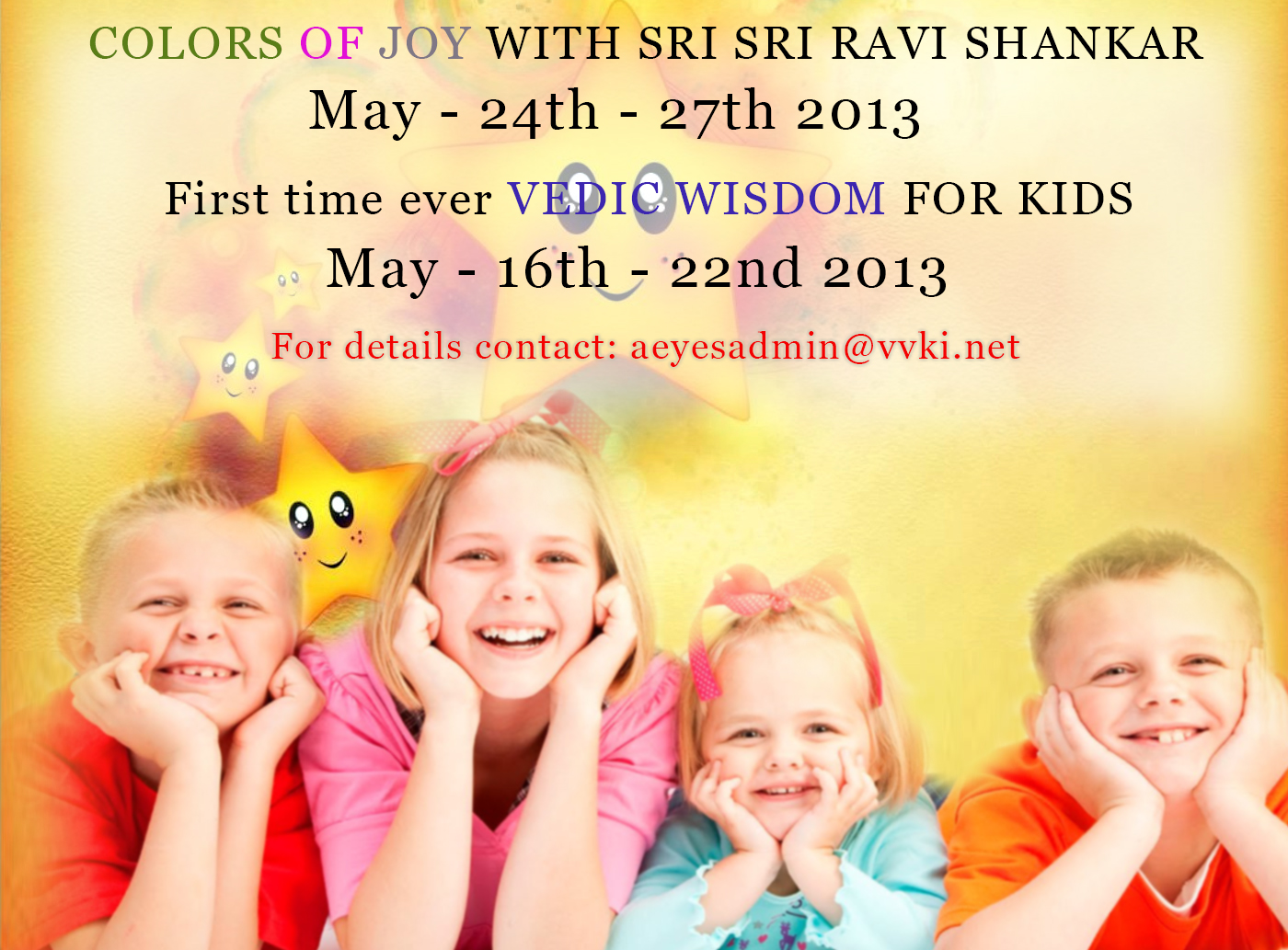 Summer Bonanza for Kids at Bangalore Ashram: May 2013
