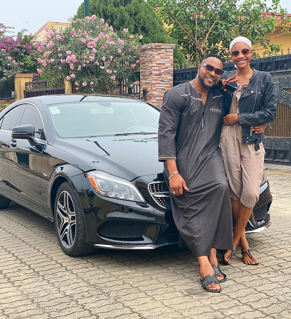"""""""All predators stay off"""" - Nollywood actor, Bolanle Ninalowo warns as he show off with his 15-year old daughter"""