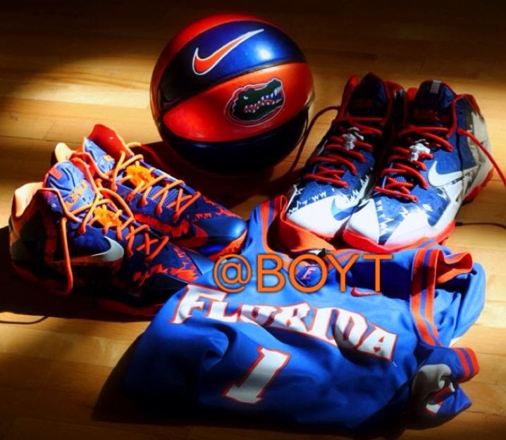 reputable site f4203 65aa9 Nike Lebron XI 11 Florida Gator PE Home + Away Sneakers (New Detailed  Images)