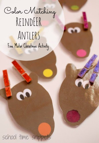 Fine Motor Christmas Activity Using Clothespins