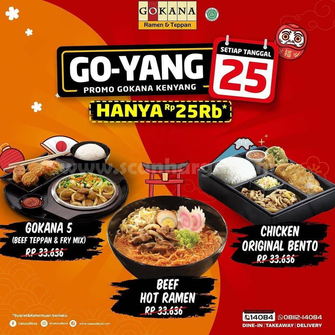 GOKANA Promo GO-YANG – Makan Kenyang hanya Rp 25.000
