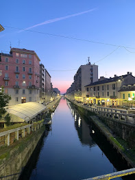 The Naviglio Pavese is lined with bars and restaurants