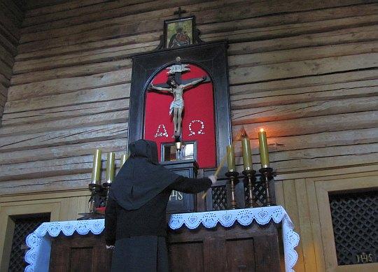 Ołtarz w kaplicy.