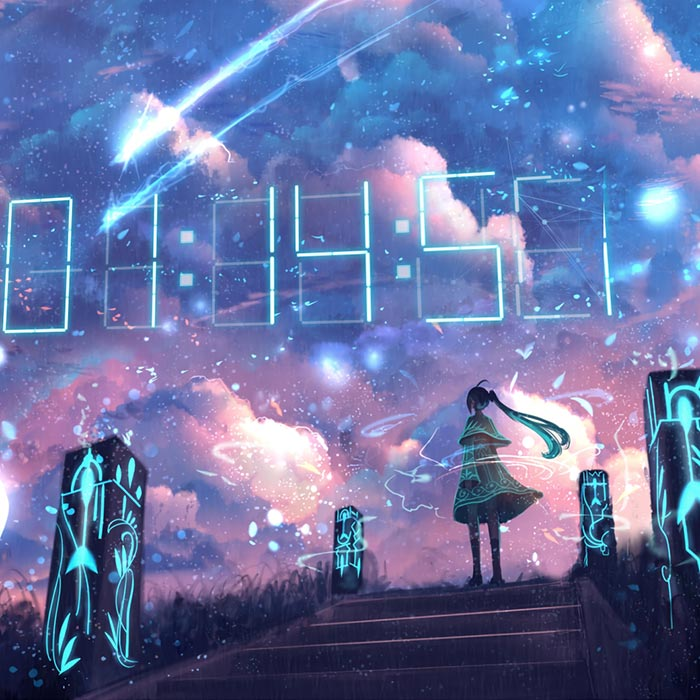 Hatsune Miku - Digital Clock Wallpaper Engine | Download