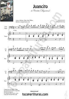 Violonchelo y Fagot Partitura de Juancito es así Sheet Music for Cello and Bassoon Music Scores Hoja 1