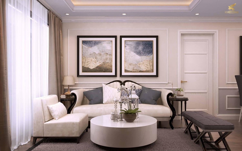 Phòng khách căn hộ Sunshine Garden Minh Khai