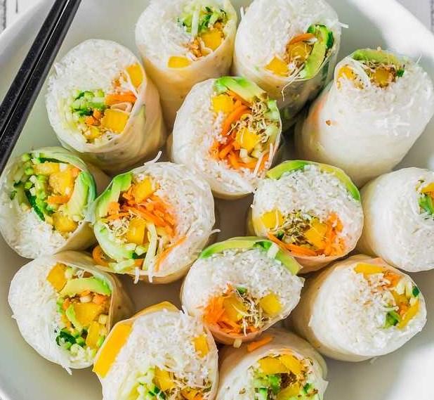 Vegan Rice Paper Summer Rolls | Gluten-Free #summerrecipes #springrolls