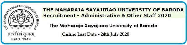 MSU Baroda Non-Teaching Recruitment 2020