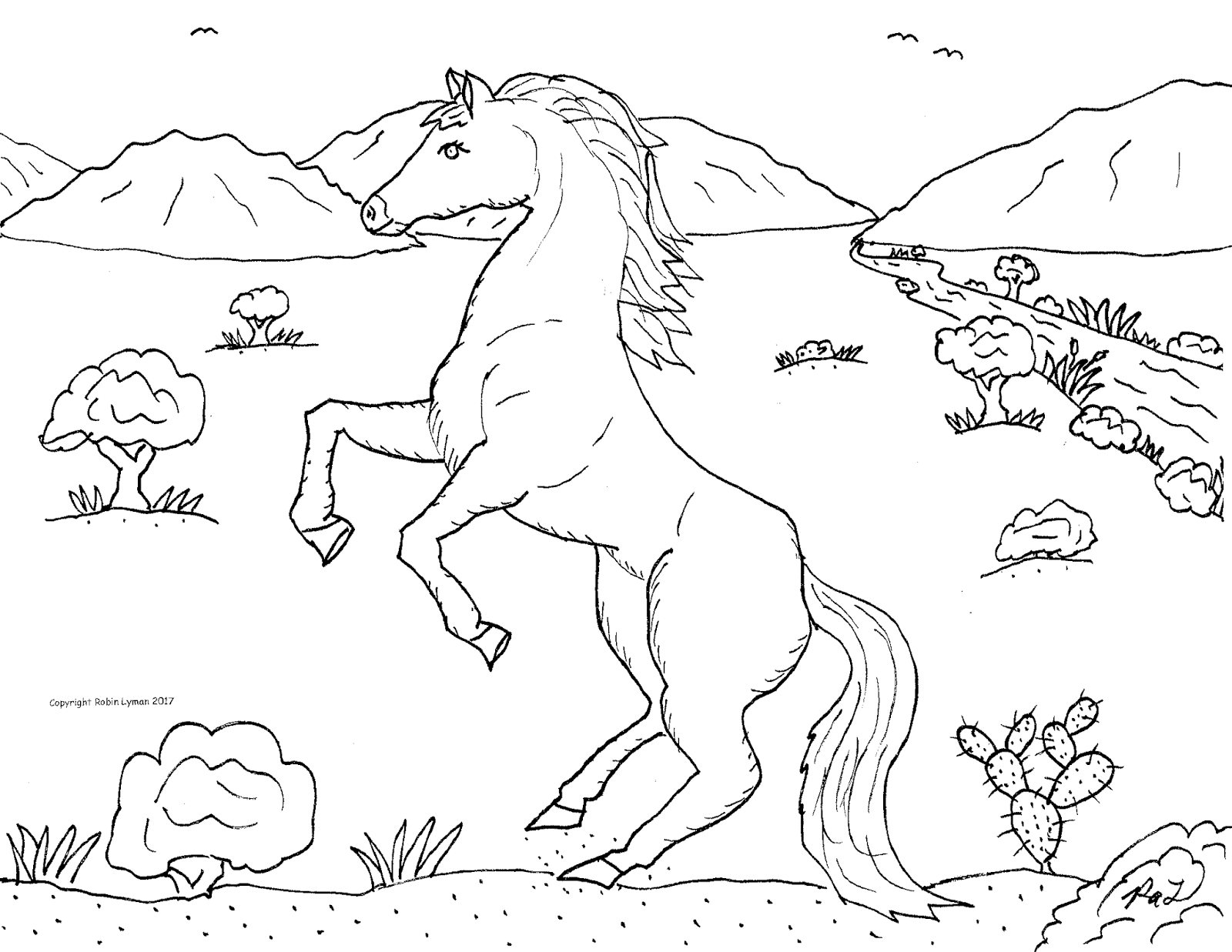 Robin\'s Great Coloring Pages: Horses and Ponies to Color