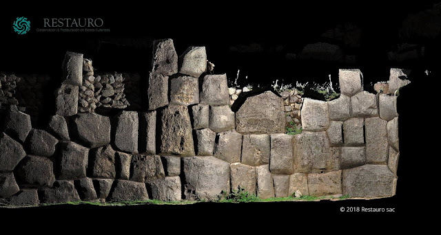 Tambomachay, Peru - High Res orthophoto of the stones - by Restauro SAC - JRC 3D Reconstructor