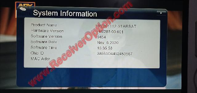 GX6605S HW203.00.001 U25 NEW SOFTWARE 06 NOVEMBER 2020