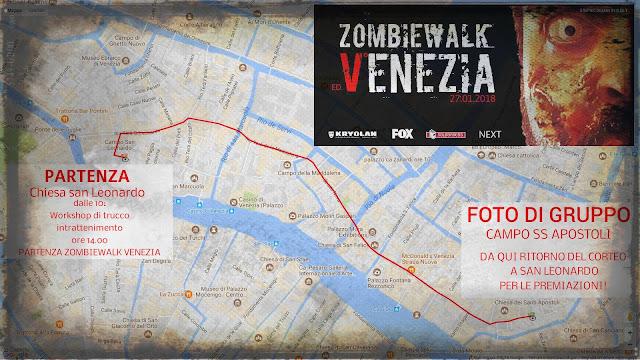 Zombie Walk Venezia 2018 (mappa)