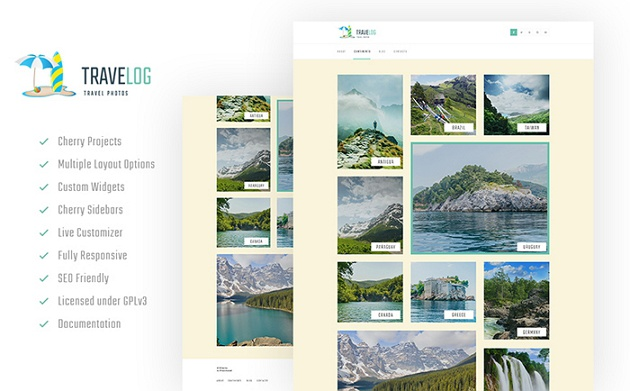 Cool and Responsive Travel Blog WordPress Theme