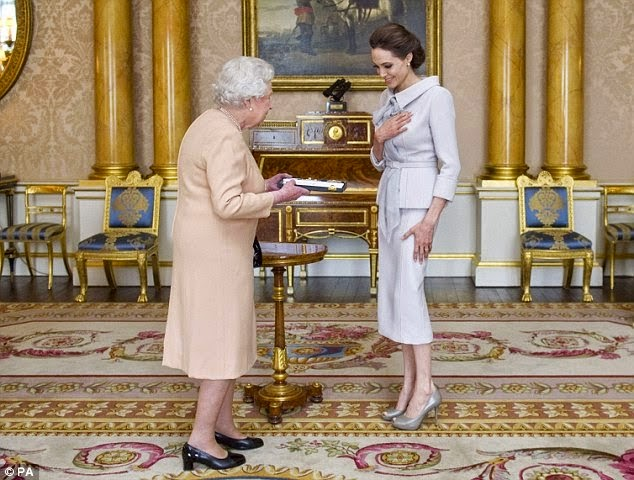 Angelina Jolie Has Been Named an Honorary Dame by Queen