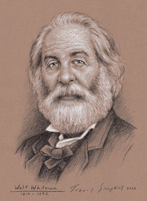 Walt Whitman. American Poet, Essayist and Journalist. Leaves of Grass. by Travis Simpkins