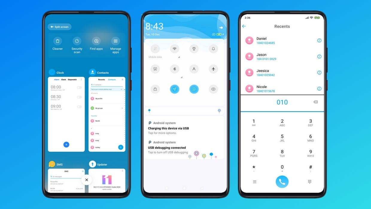 Blue New MIUI 11 Theme | Amazing Blue Layout Mi Theme