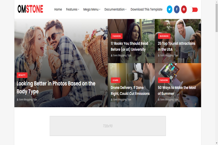 Omstone Blogger Template