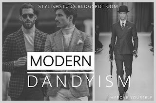 A group of man wearing dress in Modern dandy style
