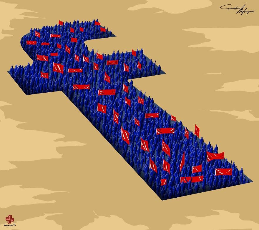 11-Gunduz-Agayev-Satirical-Illustrations-Shine-a-Light-on-Complex-Problems