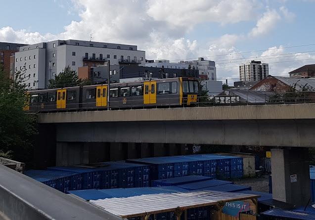 A Tyne & Wear Metro Metrocar in Newcastle upon Tyne