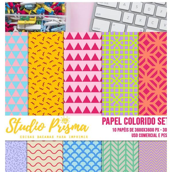 10 Papéis digitais com padrões geométricos