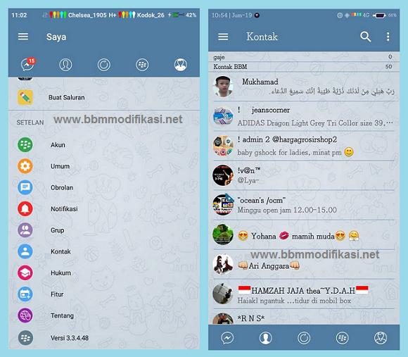 BBM Mod Telegram Style