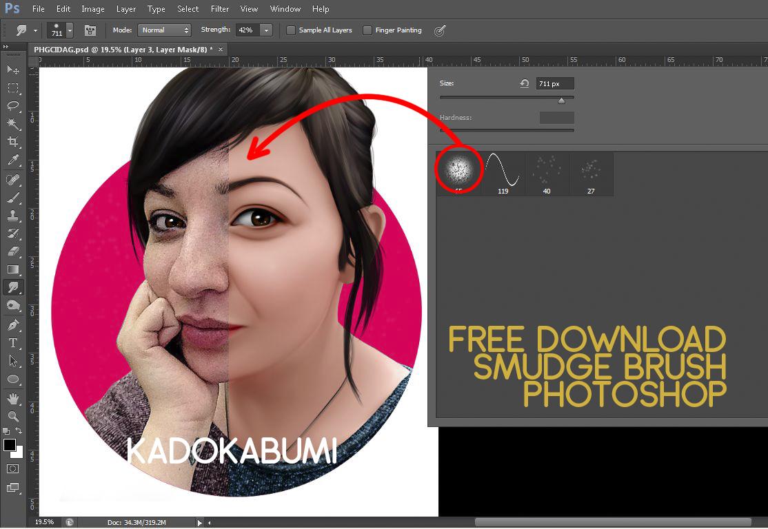 Download Brush Photoshop Deardoff Untuk Smudge 3D KADOKABUMI