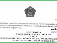 SE Presensi GTK Madrasah Normal Baru